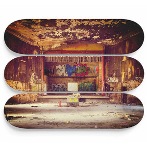 Ruined Old Theatre Skateboard Wall Art