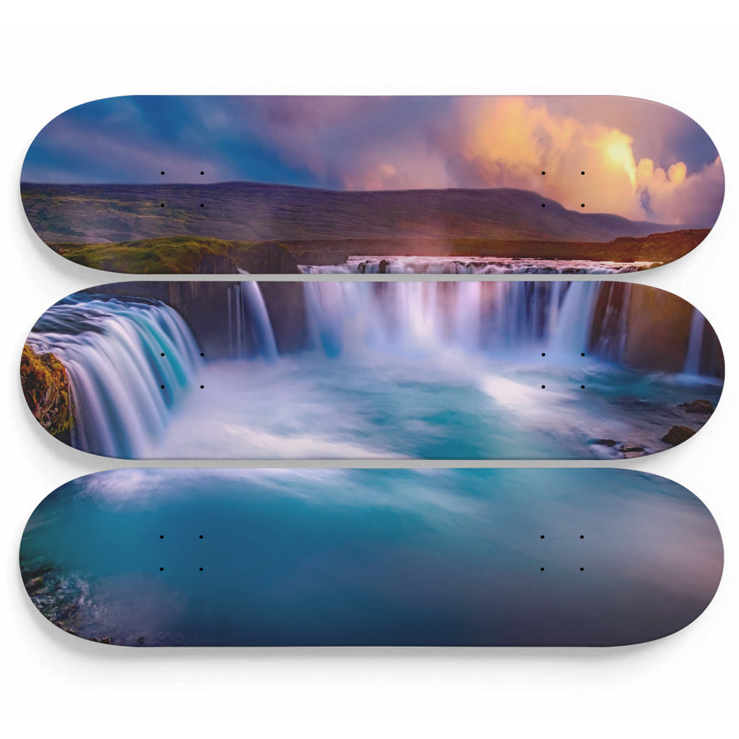 Godafoss Ice Skateboard Wall Art