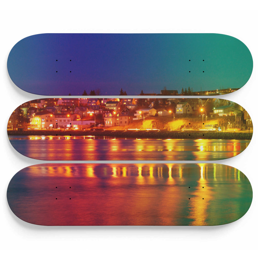 Enlighted Blue Skateboard Wall Art
