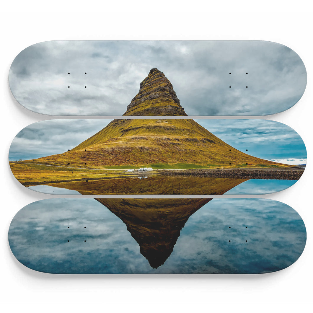 Icelandic Mirror Skateboard Wall Art