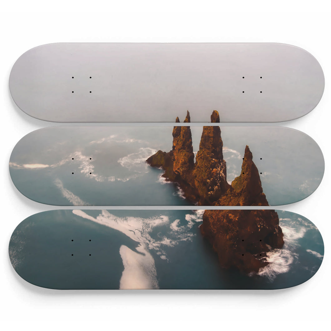 Rocky Castle Skateboard Wall Art
