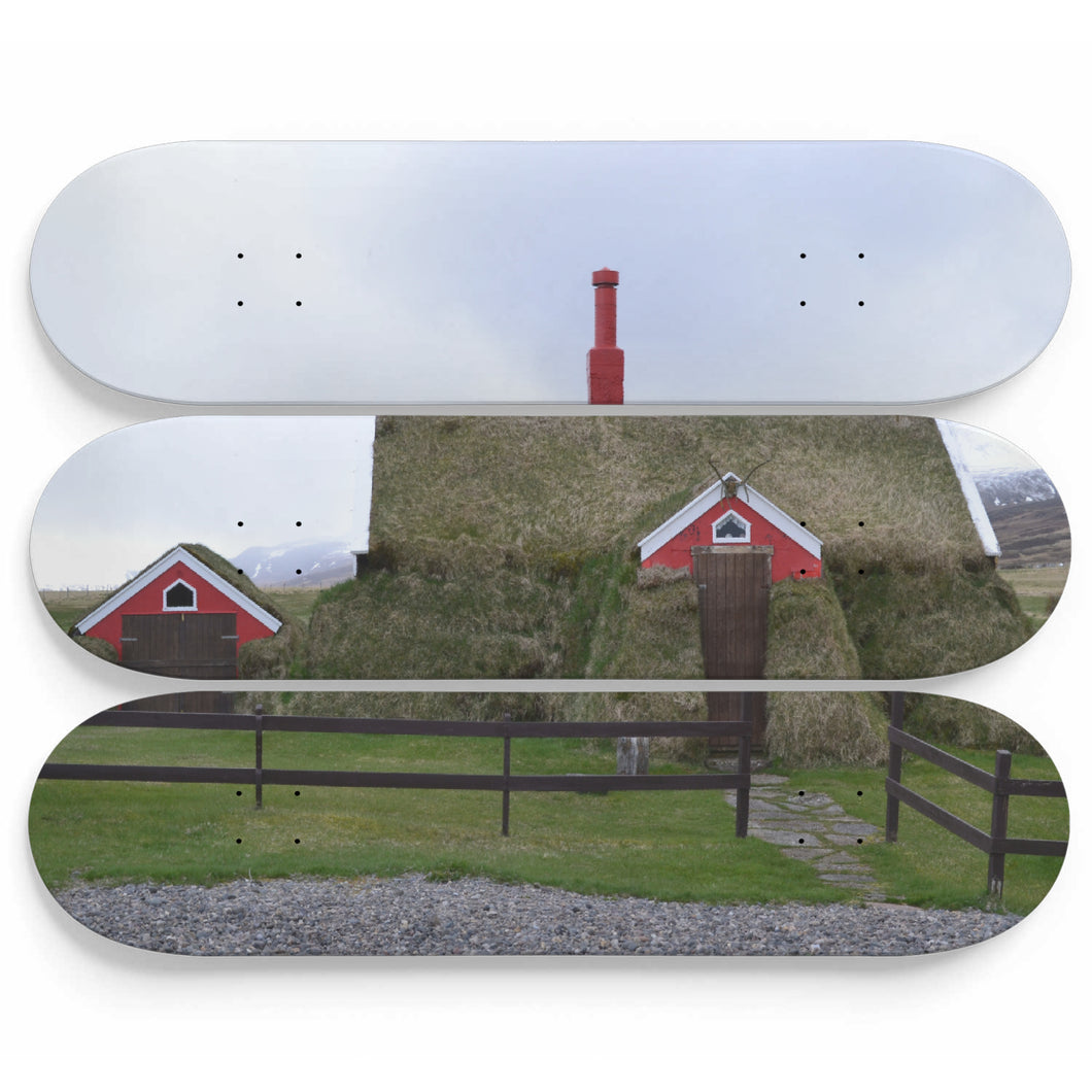House in Moss Cover Skateboard Wall Art