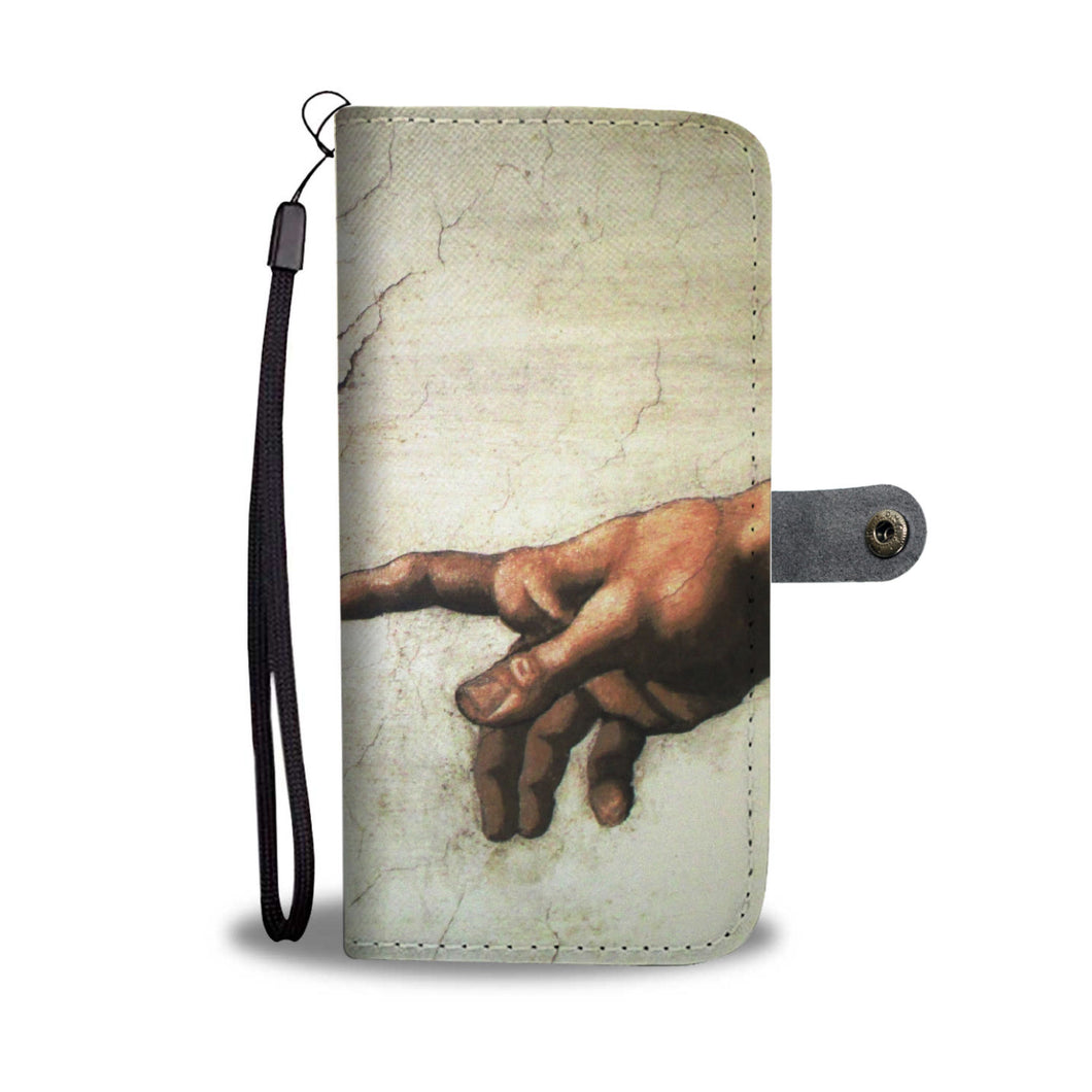 Touching Fingers Wallet Case