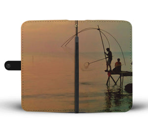 Fishing On The Dock Of The Bay Wallet Case