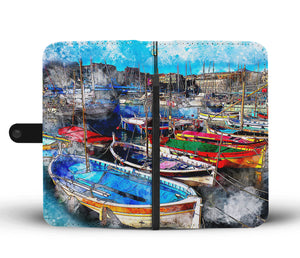Vivid Boats Wallet Case