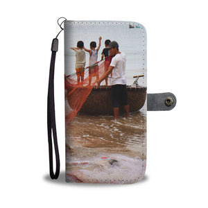 Children's Boats Wallet Case