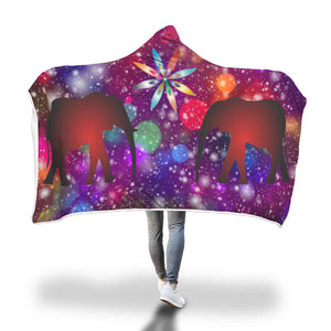 Circus Lights Hooded Blanket