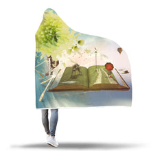 Wind Flowers Hooded Blanket