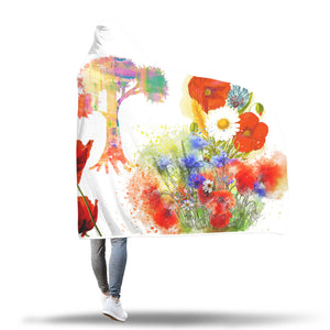 Poppy Tree Hooded Blanket