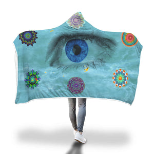 Sharkest Eye Hooded Blanket