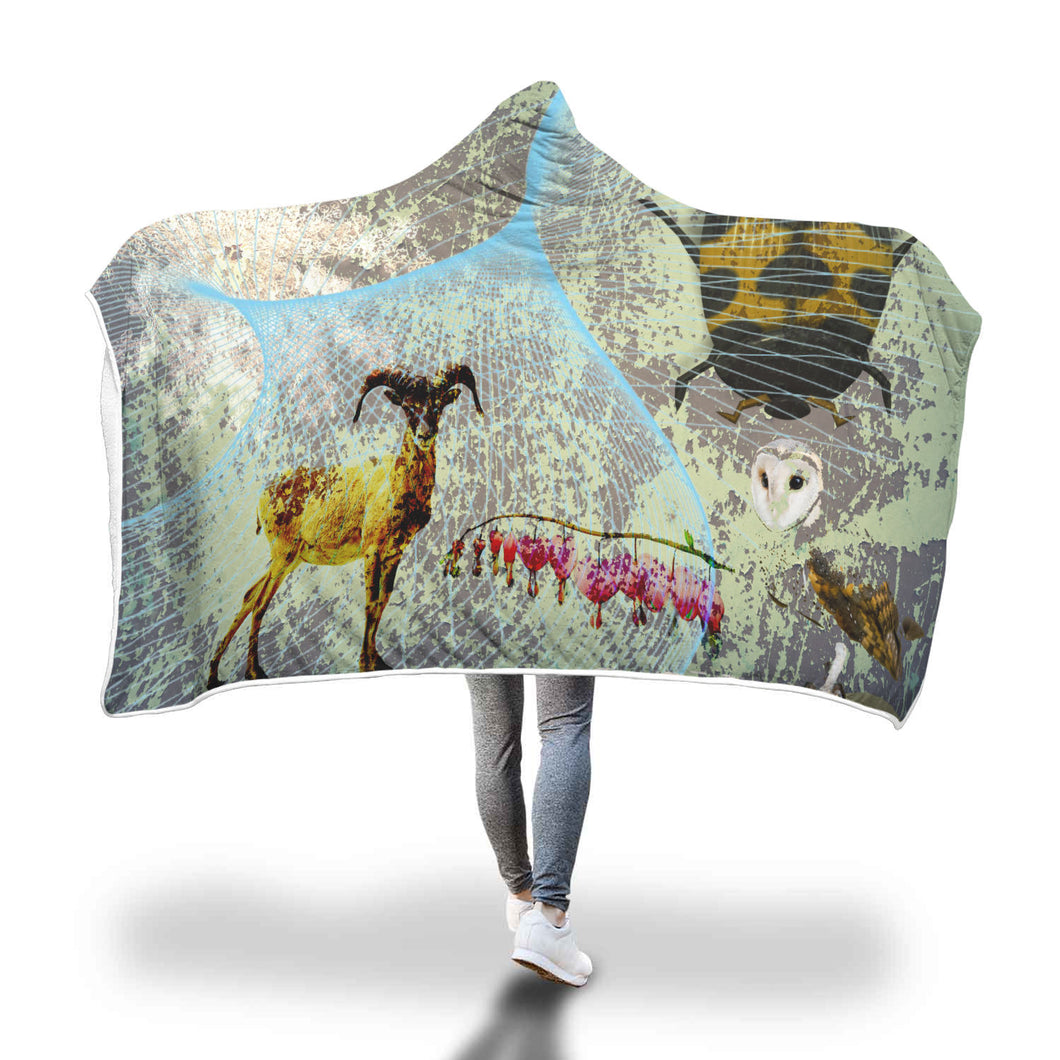 Cave Hearts I Hooded Blanket