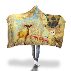Cave Hearts II Hooded Blanket