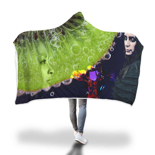 Hungry Young Women Hooded Blanket