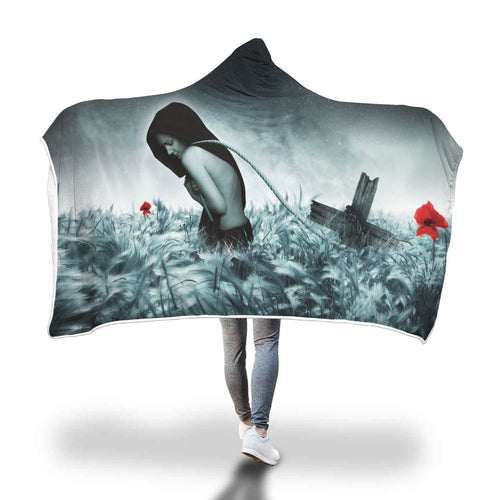 Savior Woman Hooded Blanket