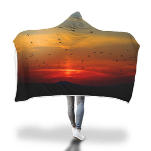 Secured Sunset Hooded Blanket