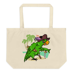 Parrots Don't Speak Large Organic Tote Bag