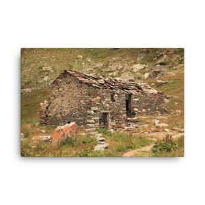 Stone Against the Roof House Canvas Print