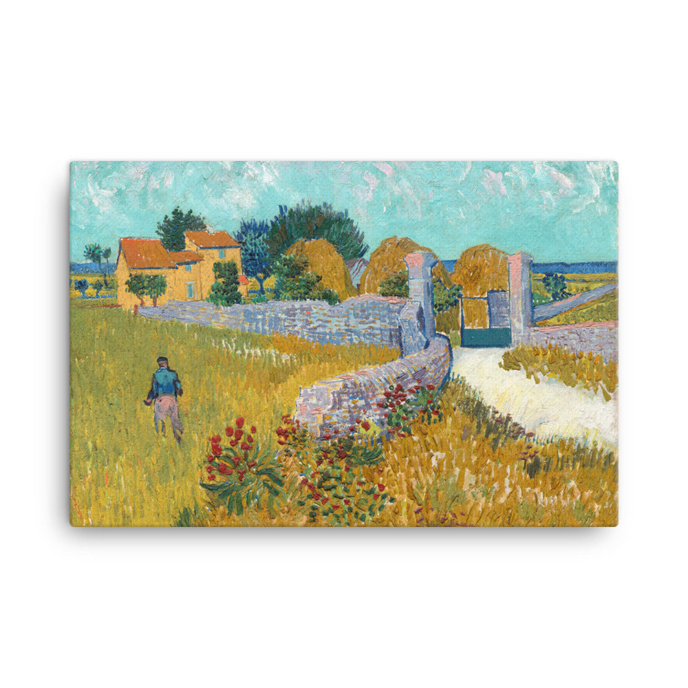 Farmhouse in Provence Classic Art Canvas