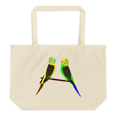 Cats, Dogs, Parrots Large Organic Tote Bag