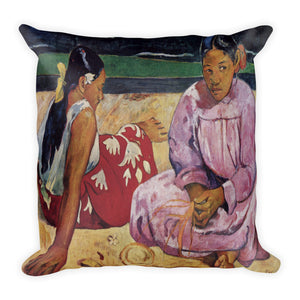 Tahitian Women on the Beach Premium Pillow