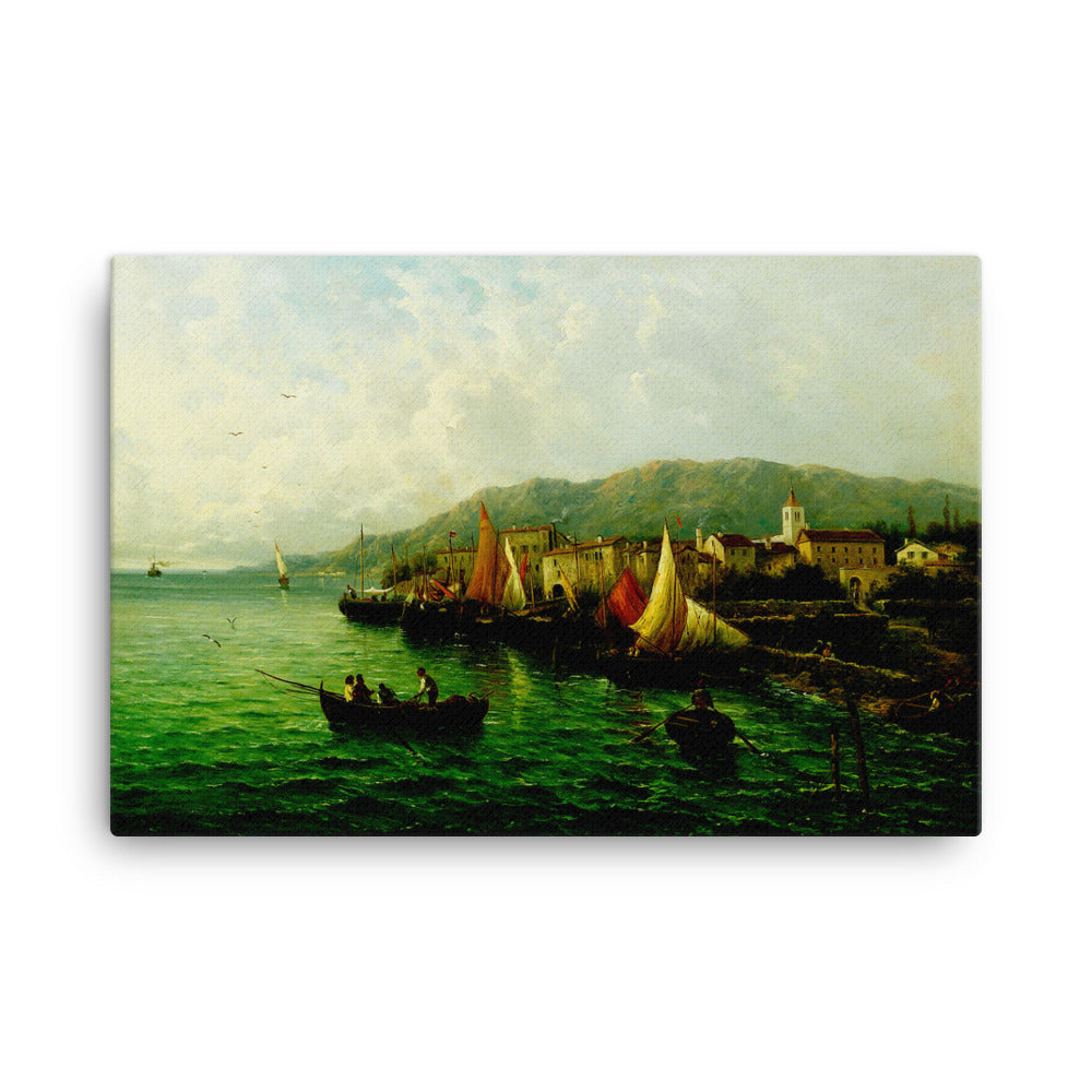 Lovrana near Fiume Digital Art Canvas
