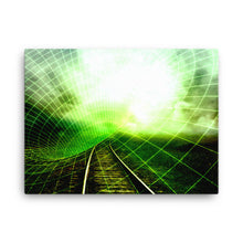 Vague Train Digital Art Canvas