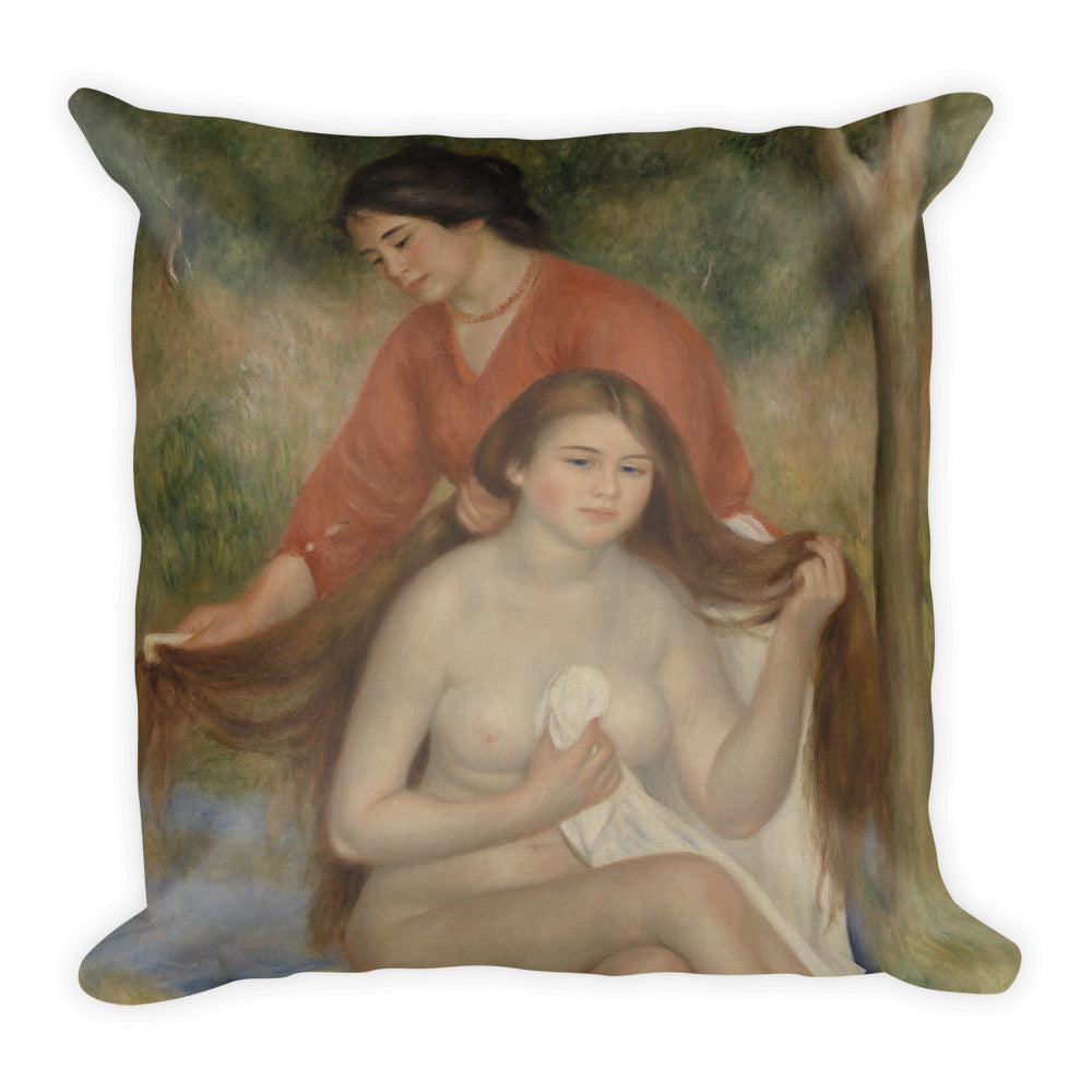 Bather and Maid Premium Pillow