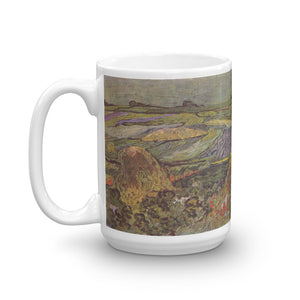 Vincent van Gogh Wheat Fields near Auvers Classic Art Mug