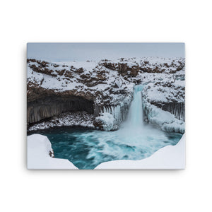 Frozen Blue Bliss Canvas Print