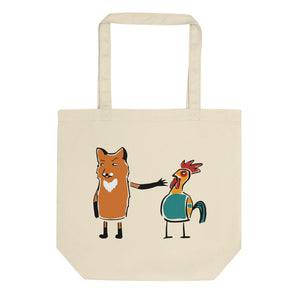 A Fox And Many Chickens Eco Tote Bag