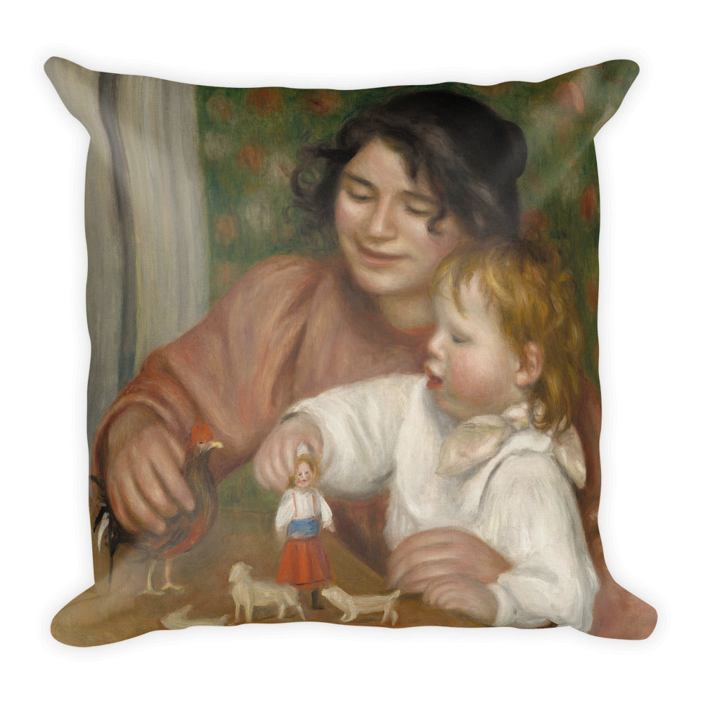 Child with Toys Premium Pillow