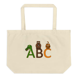 Animal's Alphabet Large Organic Tote Bag