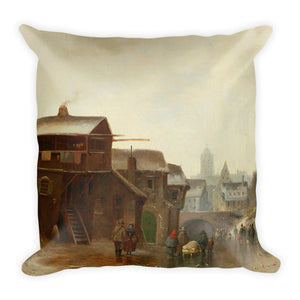 Romantic Winter Landscape Premium Pillow