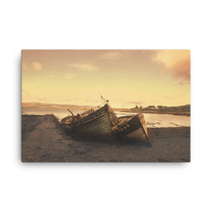 Stranded Boats Canvas Print