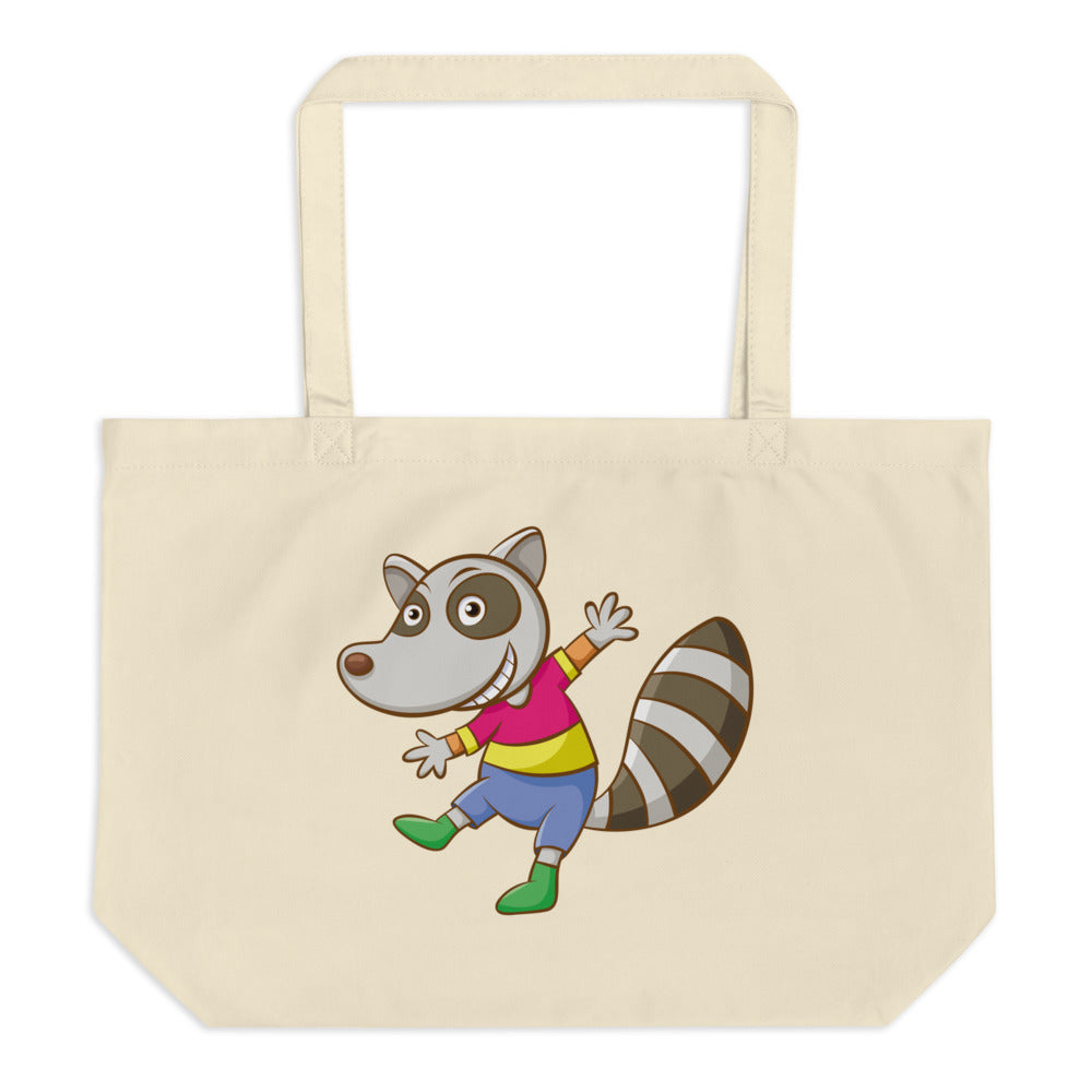 Happy and Happy Large Organic Tote Bag