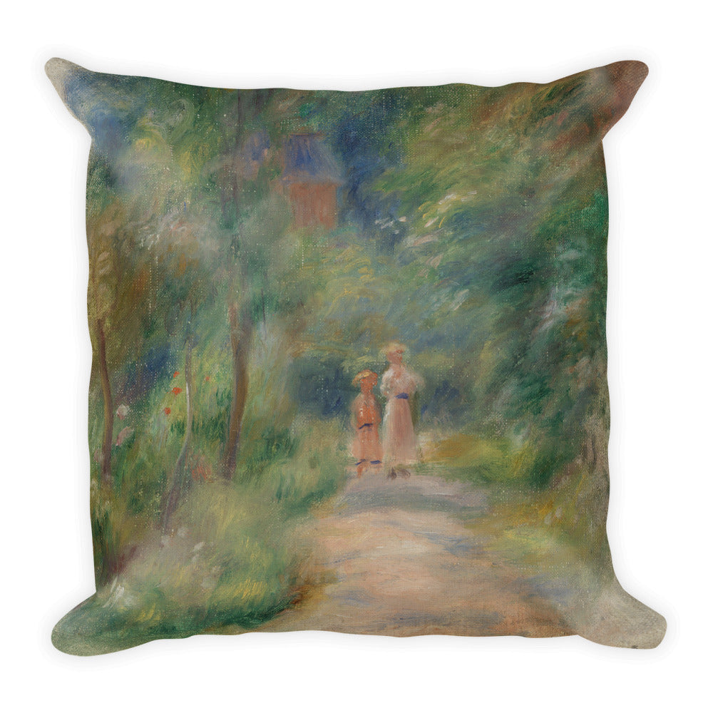 Two Figures on a Path Premium Pillow
