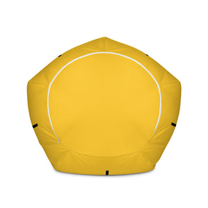Man Woman Surprise Yellow Bean Bag Chair w/ filling