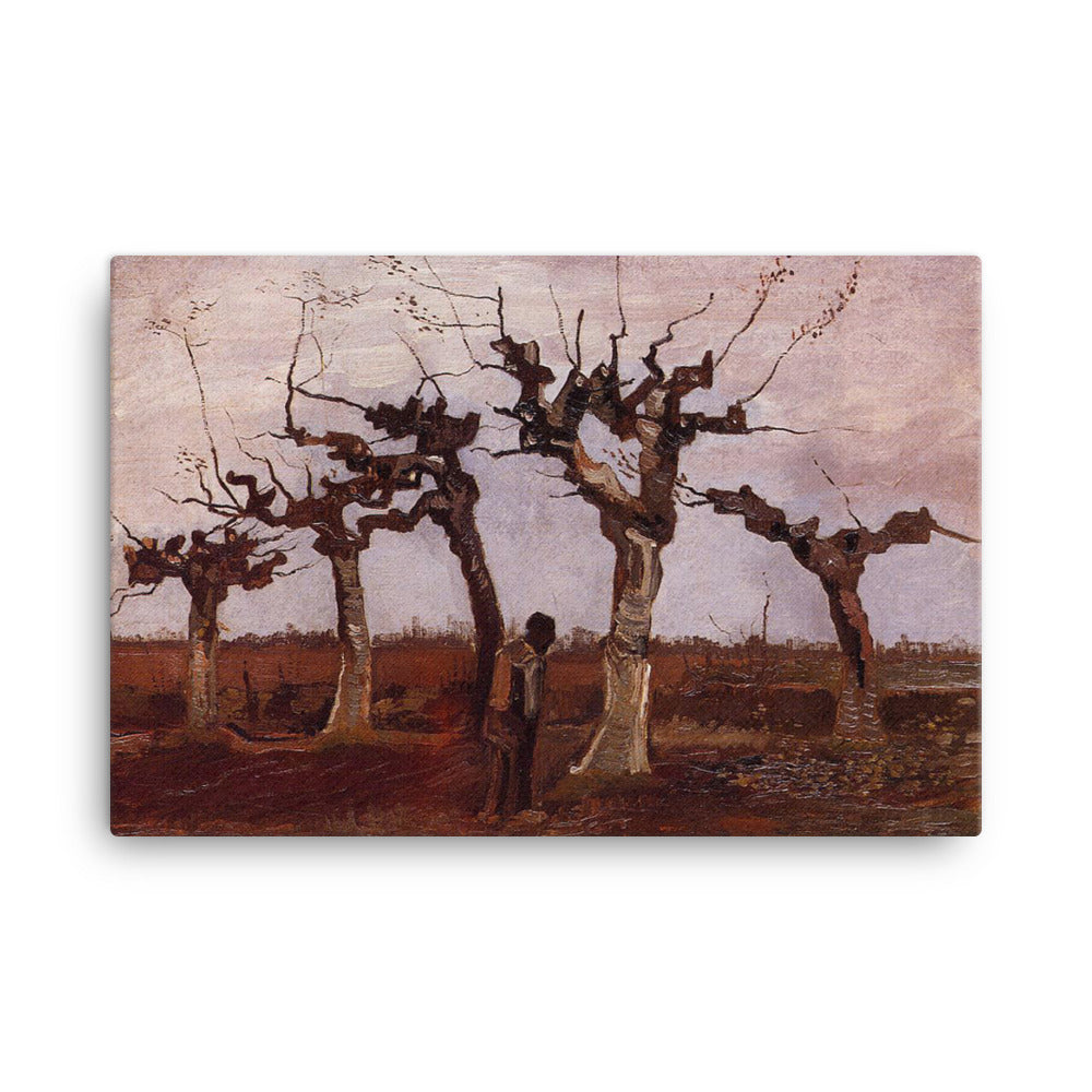 Landschaft mit Weiden Classic Art Canvas