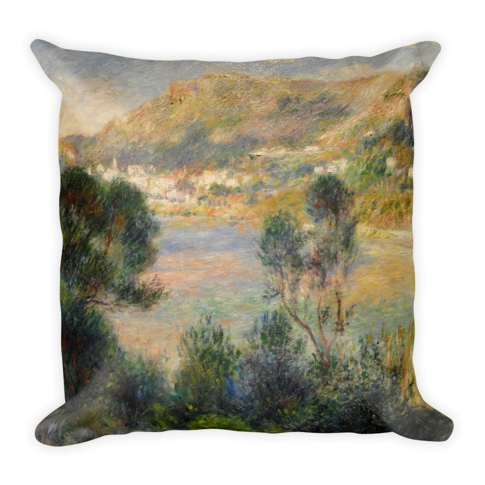 View From Cap Martin of Monte Carlo Premium Pillow