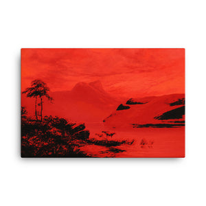 Mountain lake landscape Remastered Art Canvas