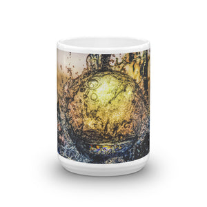 Globular Splash Digital Art Mug