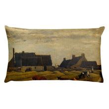 Charles François Daubigny - Farm at Kerity, Brittany, Classic Art Pillow