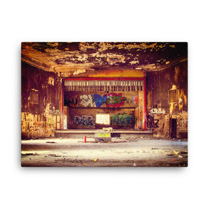 Ruined Old Theatre Canvas Print