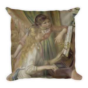 Young Girls at the Piano Premium Pillow