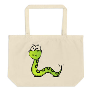 Snake and Squid Large Organic Tote Bag