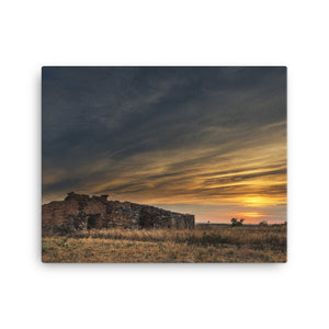 Old Valley Sunset Canvas Print