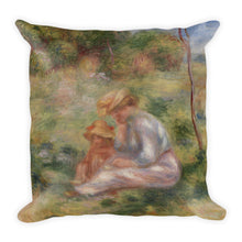 Woman and Child in the Grass Premium Pillow