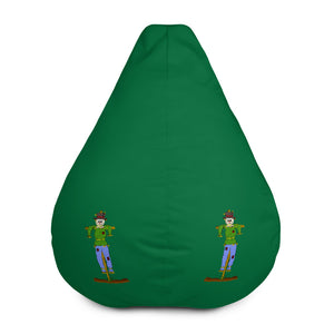 Scary Scarecrow Green Bean Bag Chair w/ filling