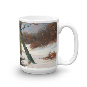 Adolf Kaufmann - Winter Landscape with Rising Moon Classic Art Mug