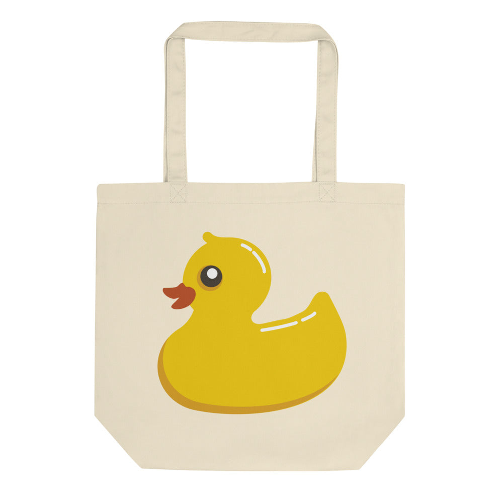 Duck Goes To Zoo Eco Tote Bag